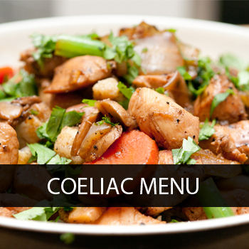 Coeliac Menu