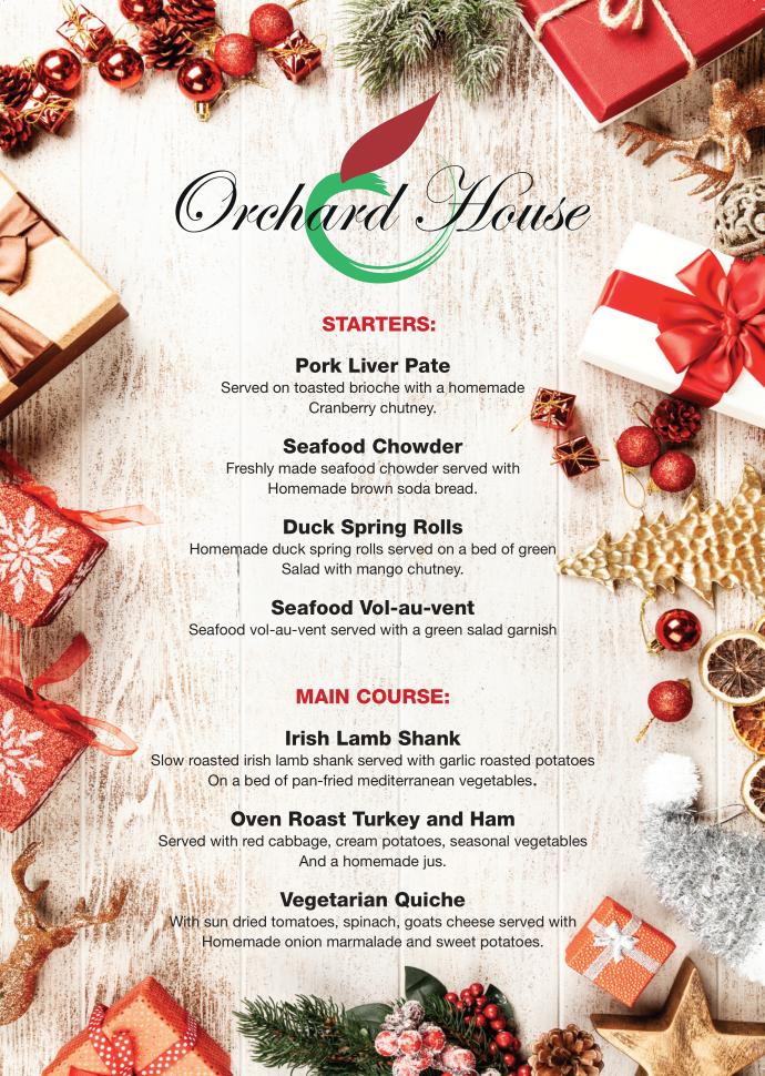 Orchard House Christmas Menu 2020-1
